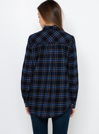Tmavomodrá kockovaná košeľa CAMAIEU