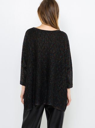 Čierny ľahký voľný sveter CAMAIEU