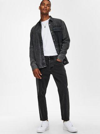 Tmavě šedé džíny straight fit ONLY & SONS Avi