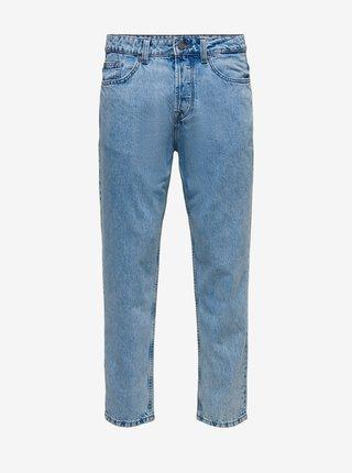 Světle modré džíny straight fit ONLY & SONS Avi