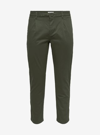 Zelené chino kalhoty ONLY & SONS Cam