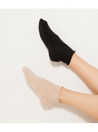 Ponožky pre ženy CAMAIEU - čierna, krémová