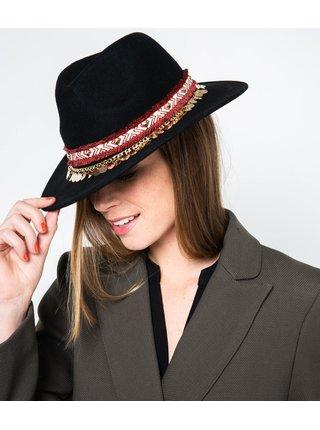 Černý vlněný klobouk CAMAIEU