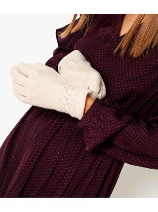 Rukavice pre ženy CAMAIEU - krémová