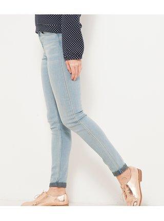 Světle modré skinny fit džíny CAMAIEU
