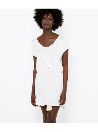 Letné a plážové šaty pre ženy CAMAIEU - biela