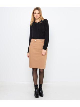Béžová pouzdrová sukně CAMAIEU