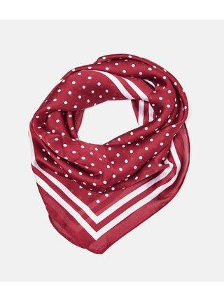 Vínový puntíkovaný šátek CAMAIEU