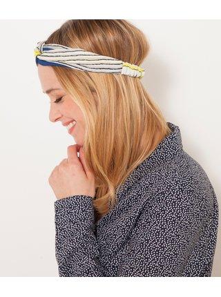 Modro-bílá pruhovaná čelenka CAMAIEU