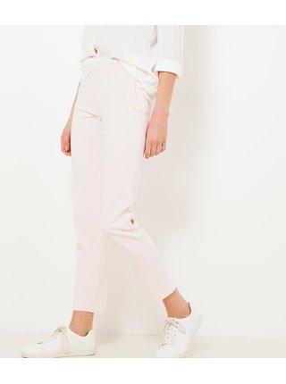 Krémové zkrácené kalhoty CAMAIEU
