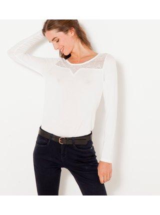 Bílé tričko s krajkou CAMAIEU