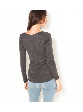 Basic tričká pre ženy CAMAIEU - tmavosivá