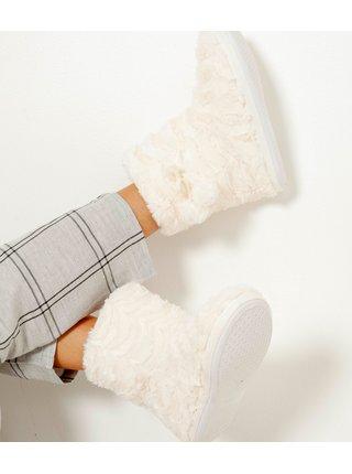 Domáca obuv pre ženy CAMAIEU - biela