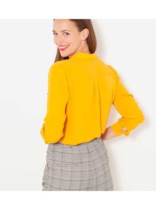 Košele pre ženy CAMAIEU - žltá
