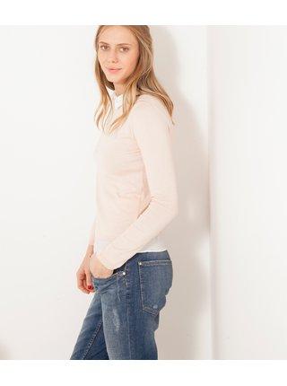 Krémový svetr s límečkem CAMAIEU