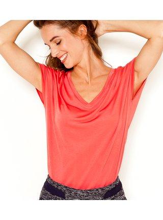 Tričká s krátkym rukávom pre ženy CAMAIEU - červená