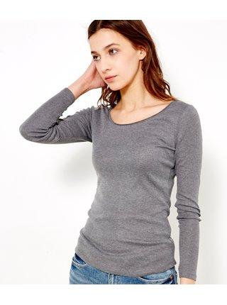Topy a tričká pre ženy CAMAIEU - sivá