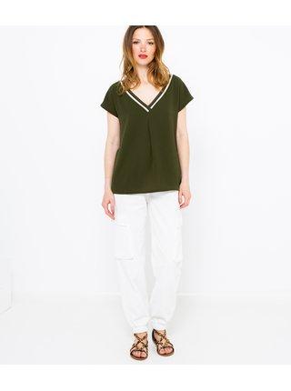 Tmavě zelené tričko CAMAIEU