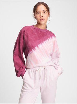 Růžová dámská mikina s batikou