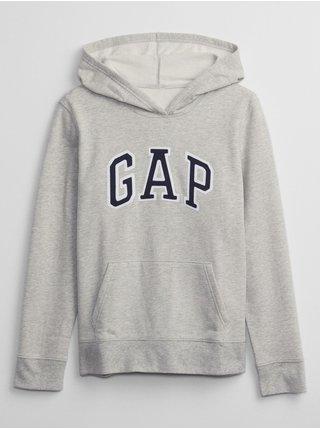 Šedá dámská mikina s kapucí GAP Logo