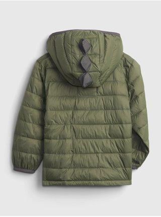 Zelená klučičí bunda prošívaná