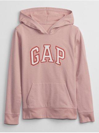 Růžová dámská mikina s kapucí GAP Logo