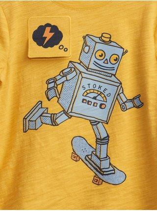 Žluté klučičí tričko s robotem
