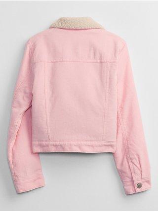 Růžová holčičí bunda zateplená