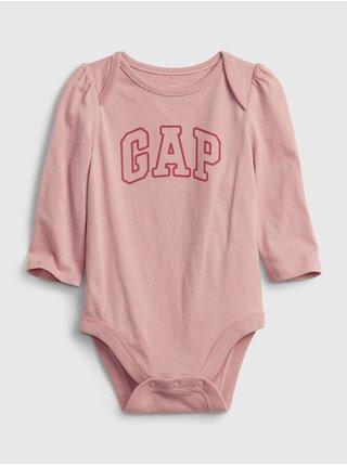 Růžové holčičí body GAP Logo