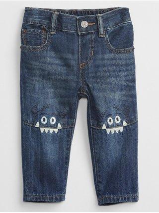 Modré klučičí džíny s obrázkem