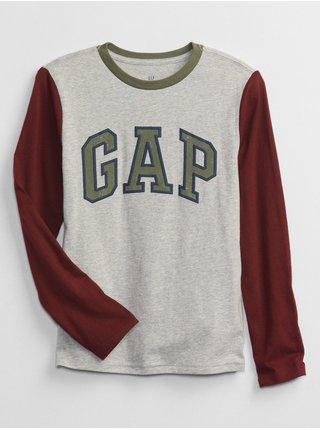 Šedé klučičí tričko GAP Logo