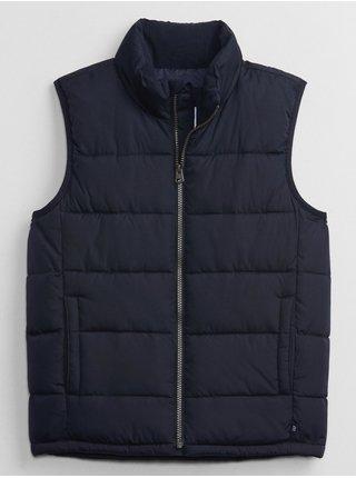 Modrá holčičí vesta prošívaná