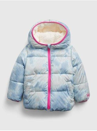 Modrá holčičí bunda oboustranná