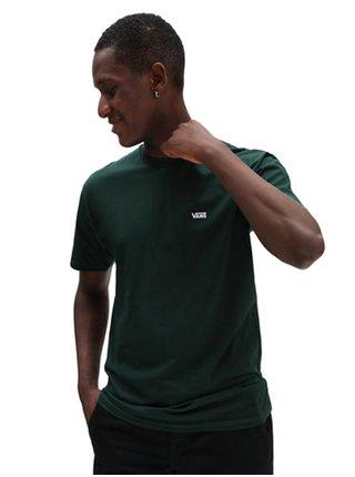 Tmavě zelené pánské tričko VANS Left Chest Logo