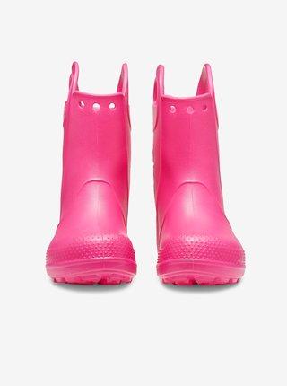 Ružové dievčenské čižmy Crocs