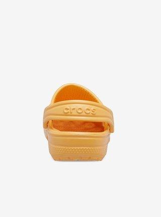 Oranžové detské šľapky Crocs