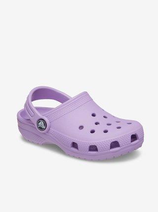 Fialové dievčenské šľapky Crocs