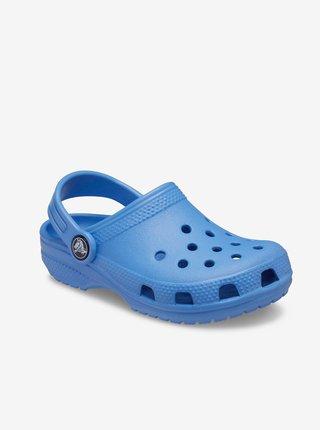 Modré detské šľapky Crocs