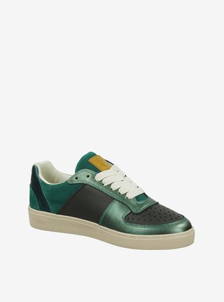 Zelené dámske lesklé tenisky Scotch & Soda Laurite Sneaker Green Multi