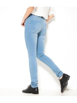 Světle modré slim fit džíny CAMAIEU