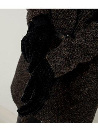 Čierne zimné rukavice CAMAIEU