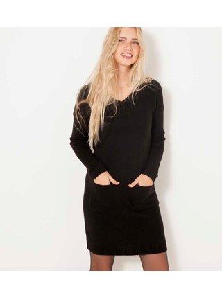 Černé šaty s kapsami CAMAIEU