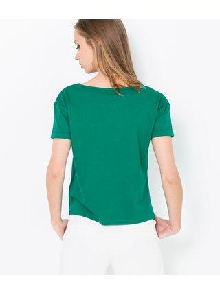 Zelené tričko se zavazováním vpředu CAMAIEU