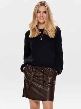 Černý svetr s krajkou ONLY Xenia