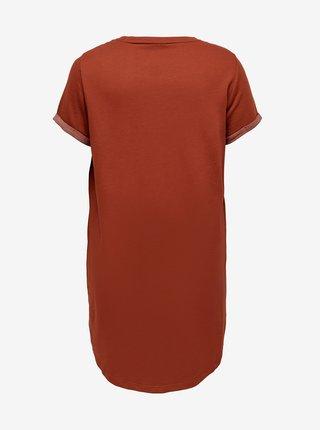 Hnedé šaty ONLY CARMAKOMA Kaylee