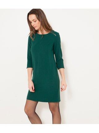 Zelené krátké šaty CAMAIEU