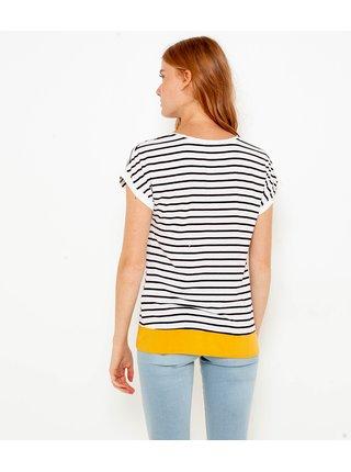 Čierno-biele pruhované tričko CAMAIEU