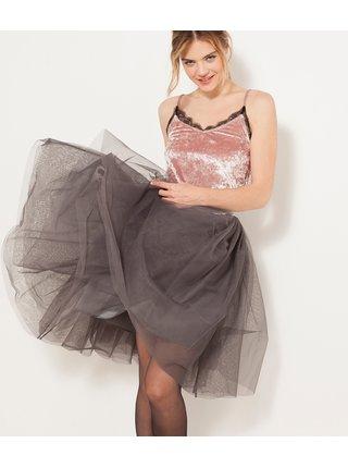 Šedá tylová sukňa CAMAIEU