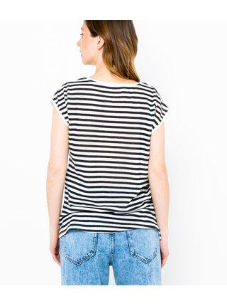 Černo-biele pruhované tričko CAMAIEU