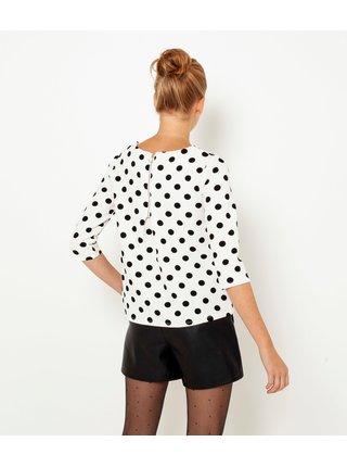 Černo-bílé puntíkované tričko CAMAIEU